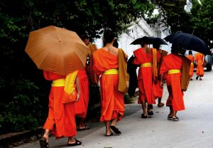 9. Novices walking to school