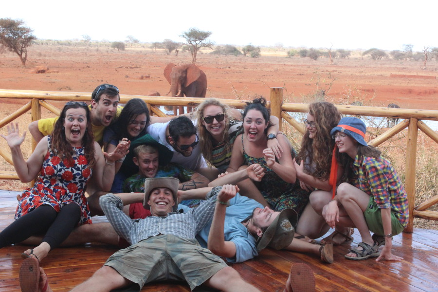Best photo-bomb ever? Well done, Mr. Elephant.