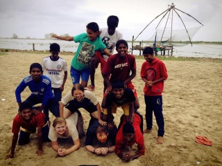 Amazing team building with the locals