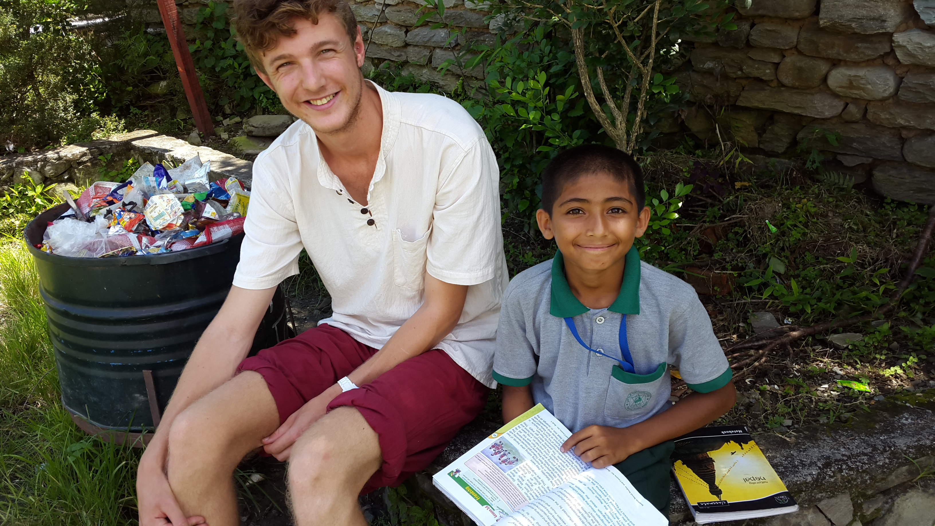 Josh with a student