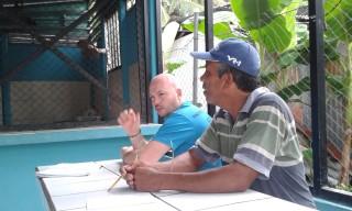 Joe with Adult English student Max