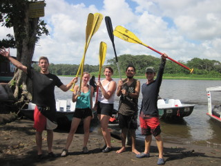 Winning Canoe Team