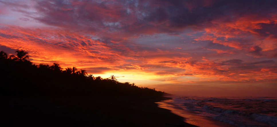 sunset over Costa Rica beach