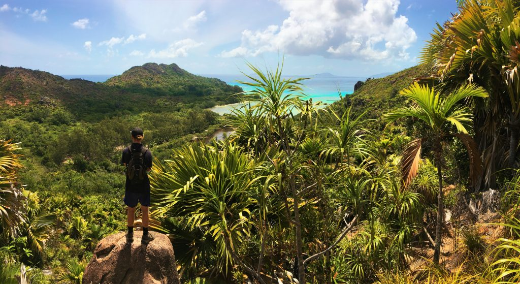 Overlooking the Seychelles montains