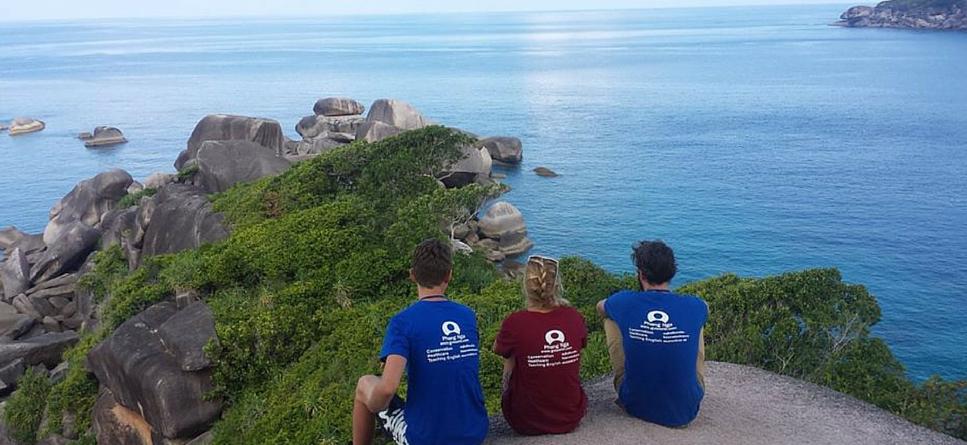 Overlooking the ocean in Thailand