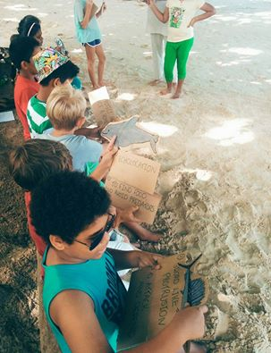 Students from ISS learn about different marine species and their Adaptations in our beachside classroom.