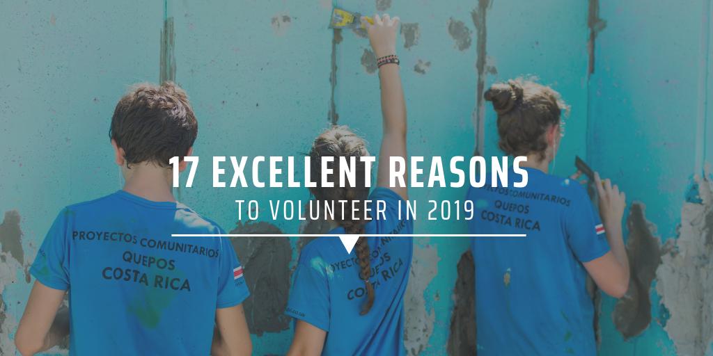 excellent reasons to volunteer