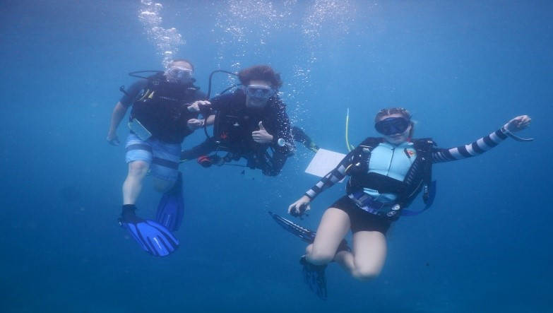 Marine species monitoring and becoming a dive pro!