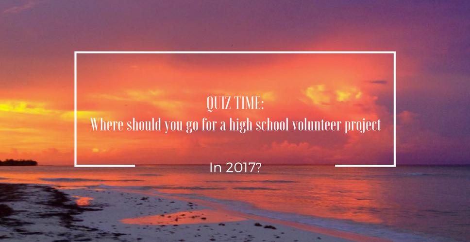 Your Perfect High School Volunteering Location! [Quiz]