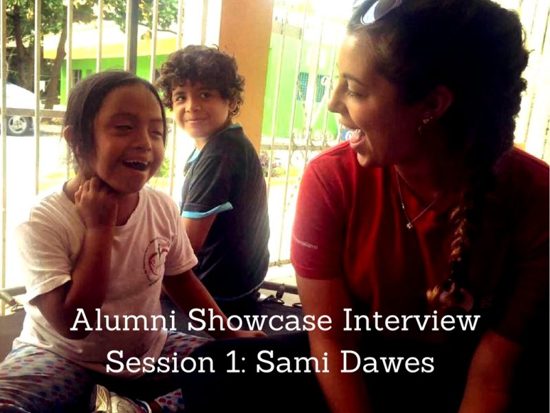 Alumni Showcase Interview Session One: Sami Dawes