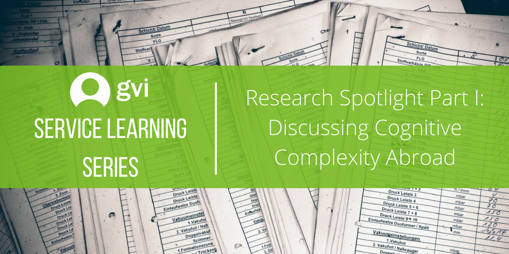 Research Spotlight Part I: Discussing Cognitive Complexity Abroad