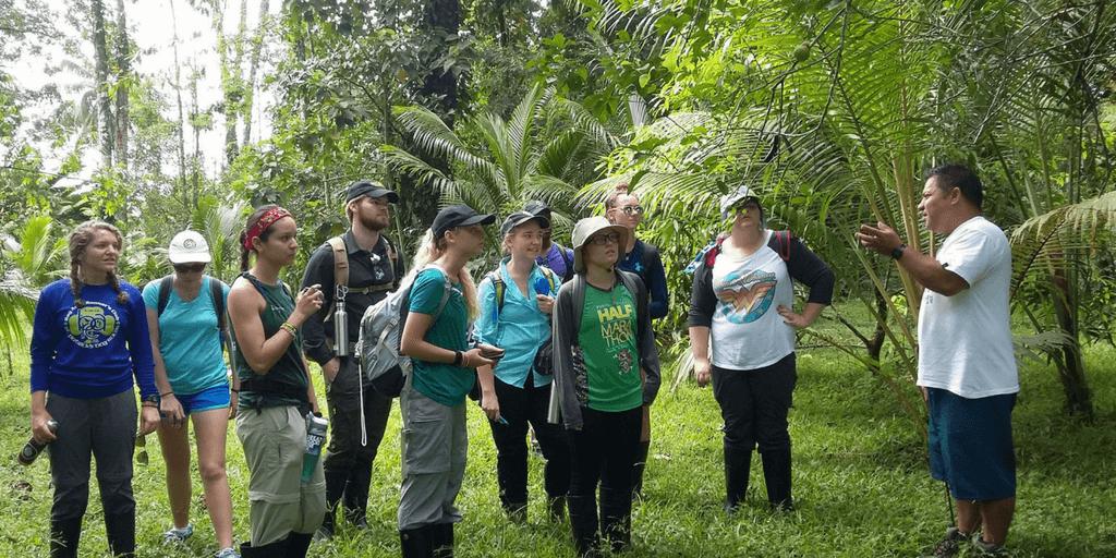 volunteers learn in costa rica's jungle