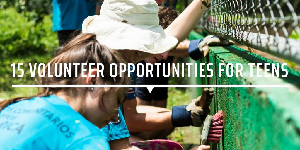 15 Volunteer Opportunities For Teens