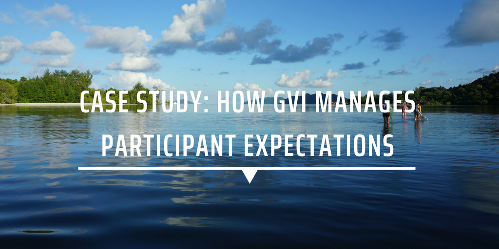 Case study: How GVI manages participant expectations