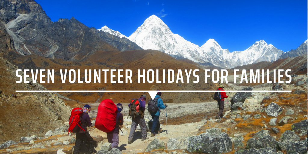 Seven volunteer holidays for families