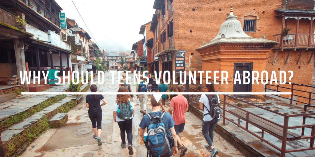 Why should teens volunteer abroad?