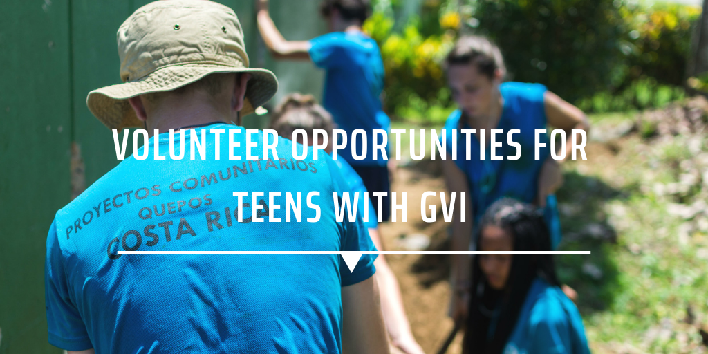 Volunteer opportunities for teens with GVI
