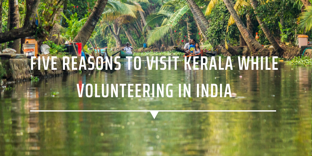 Five reasons to visit Kerala while volunteering in India