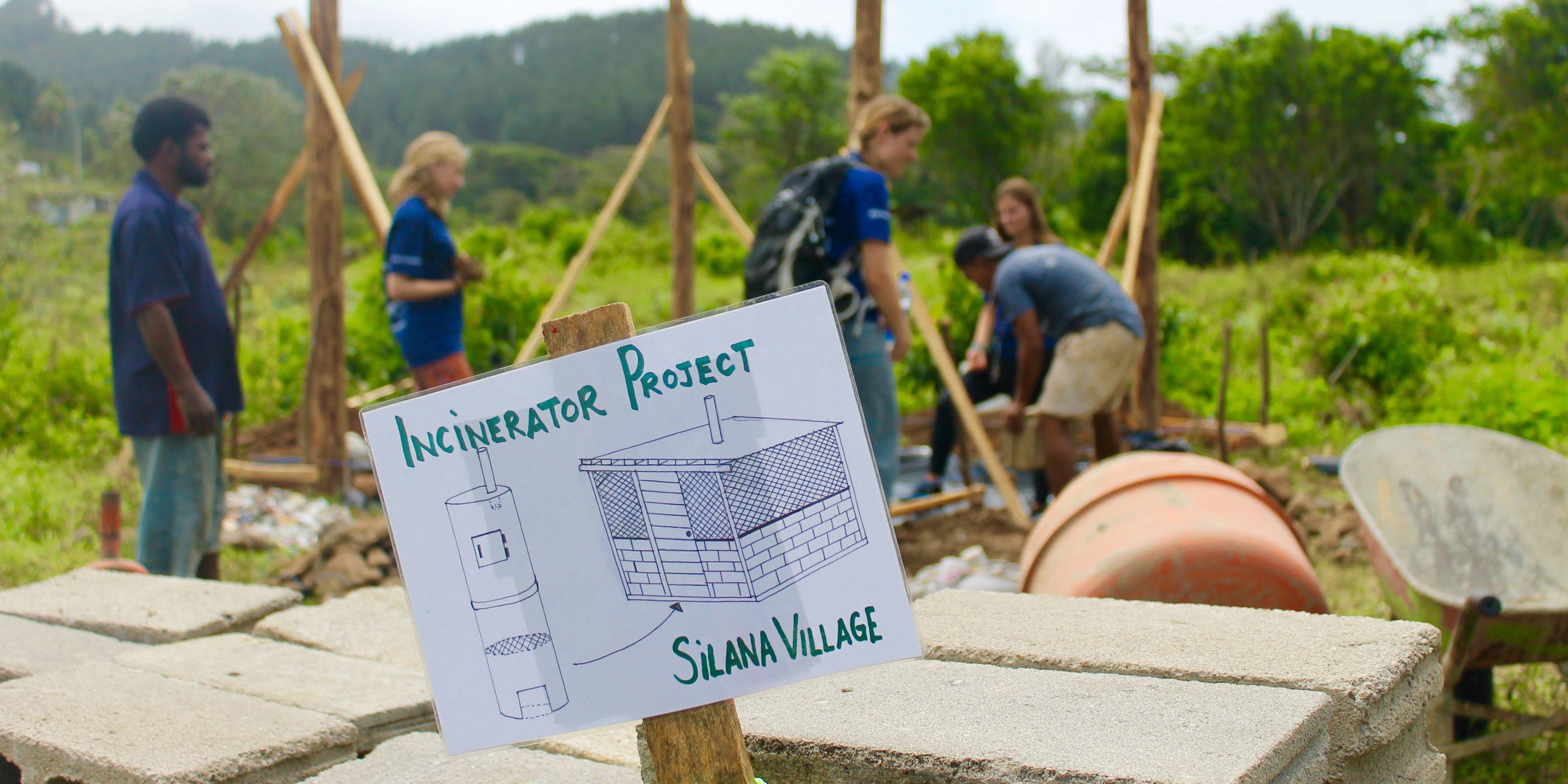 GVI volunteers doing agricultural work on a community development program. Volunteer work teaches leadership skills.
