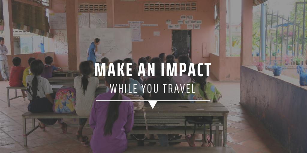 Make an impact while you travel
