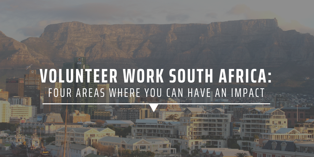 Volunteer work South Africa: four areas where you can have an impact