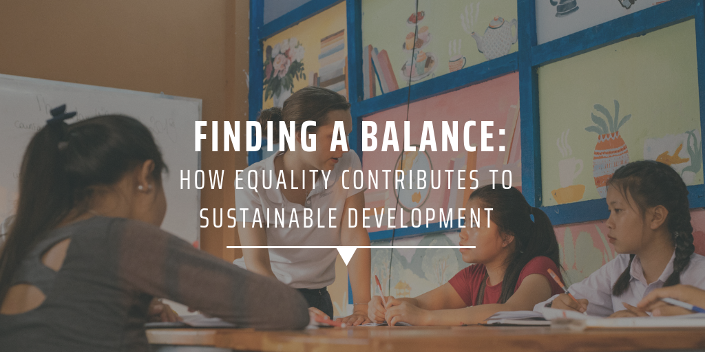 Finding a balance: how equality contributes to sustainable development