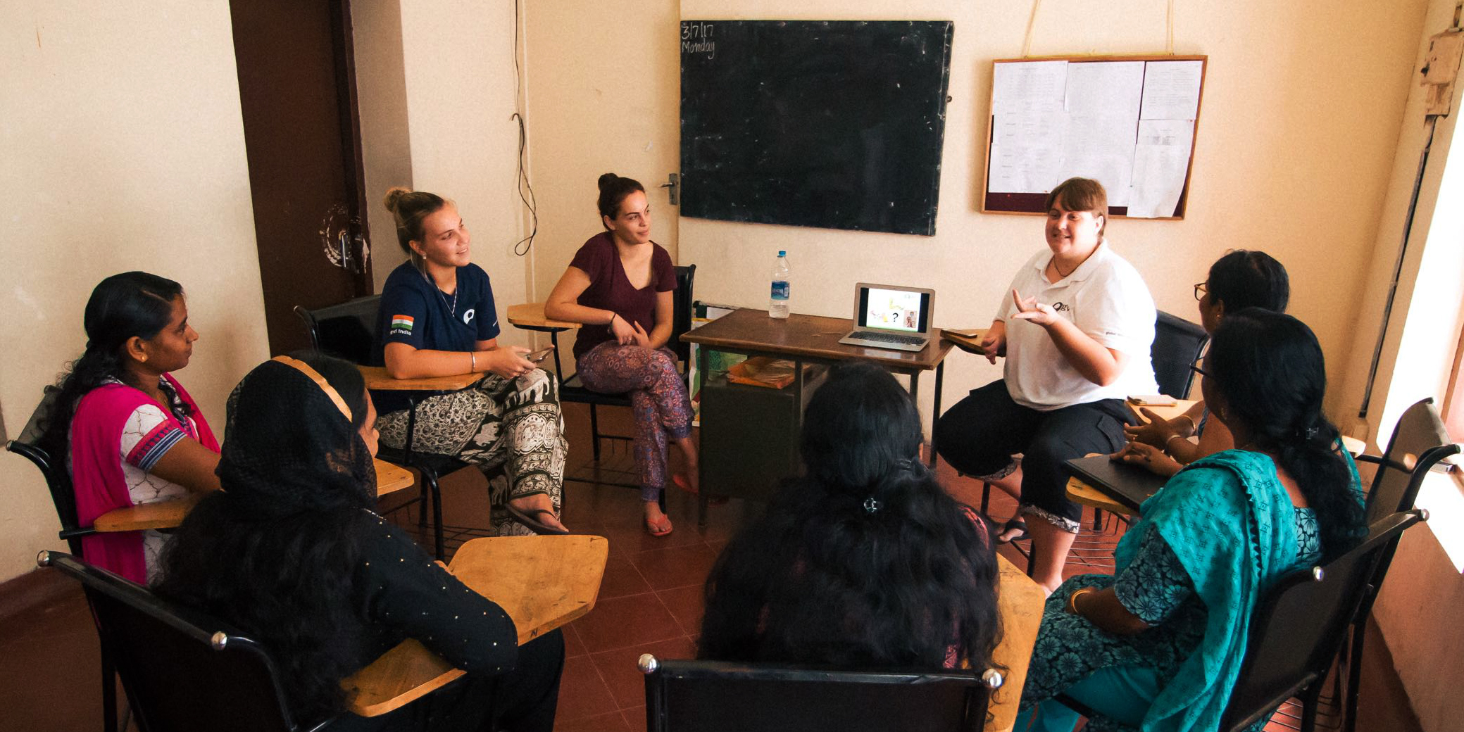Why do I have to pay to volunteer abroad? Your program fees cover the costs of essential training. Pictured: a group of women attend a GVI workshop in India.