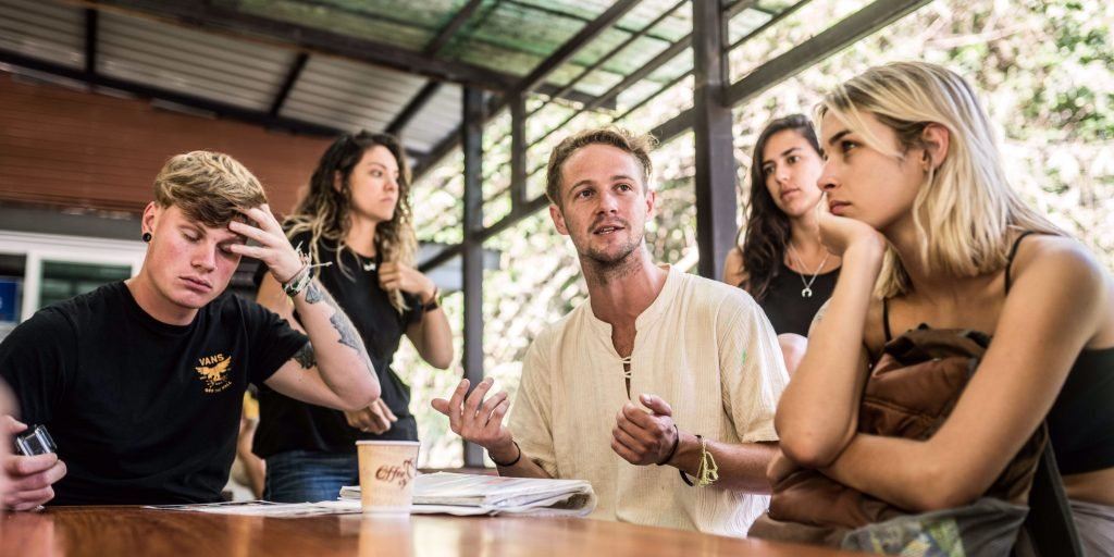 Staff in Chiang Mai lead a lesson with participants. GVI's gap year programs abroad are an opportunity to develop leadership skills. to