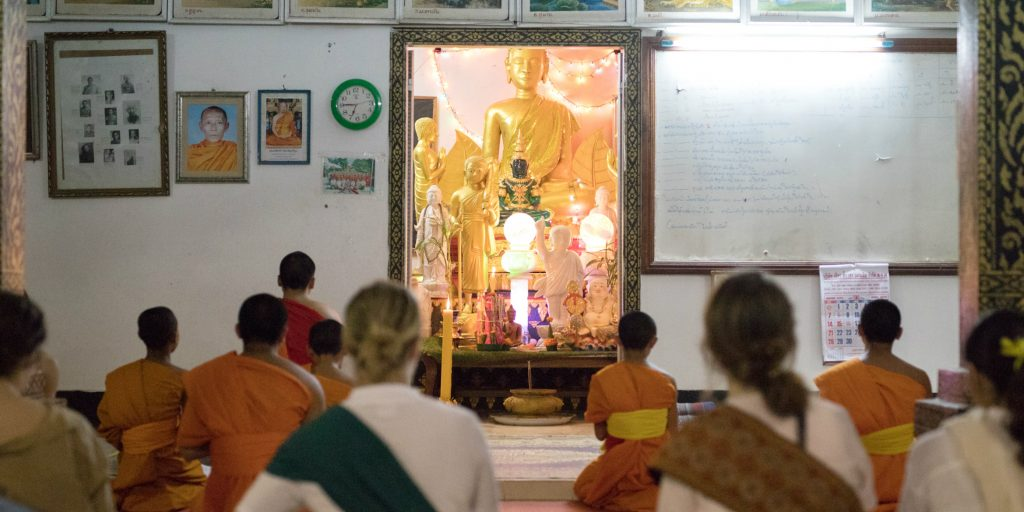 GVI interns learn about Laos culture while teaching abroad