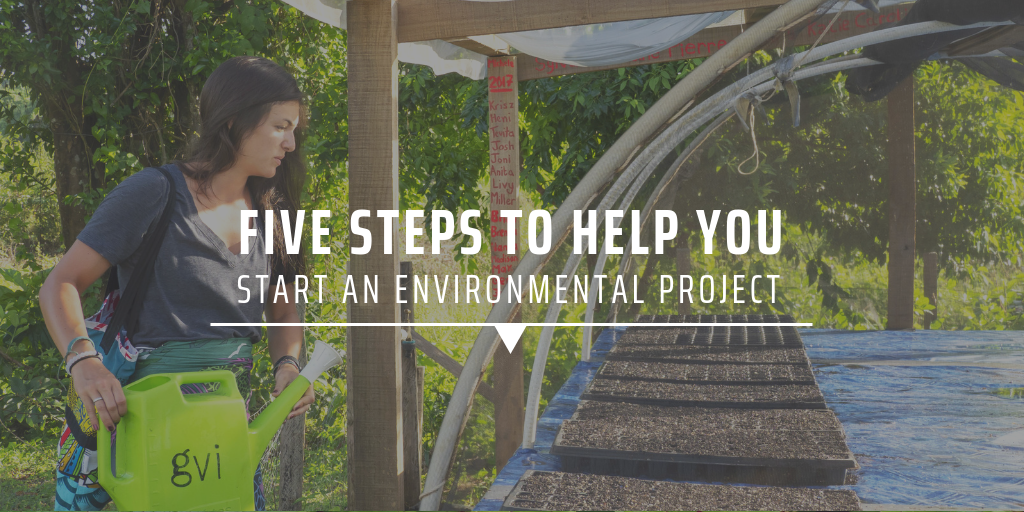 Five steps to help you start an environmental project