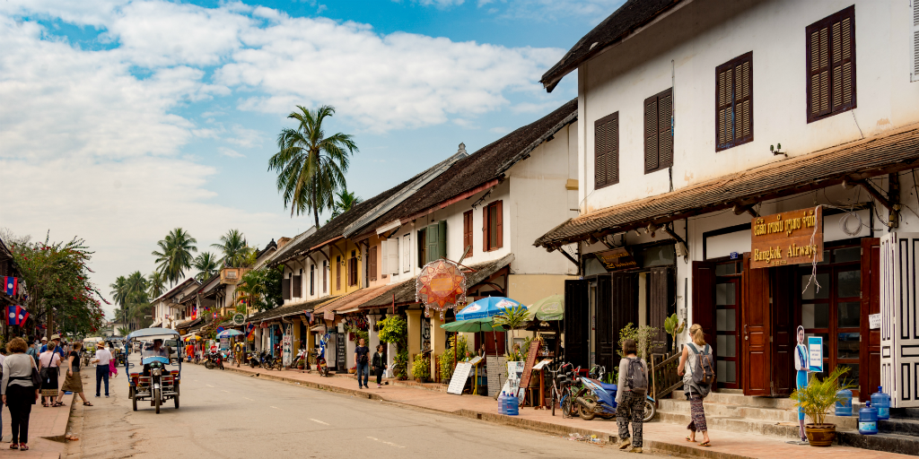 A street in the city of Luang Prabang