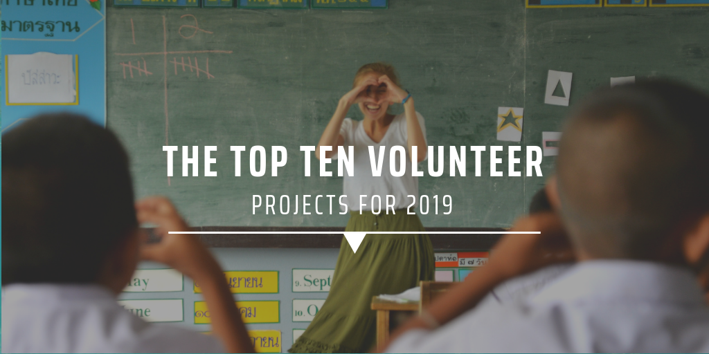 The top ten volunteer projects for 2019