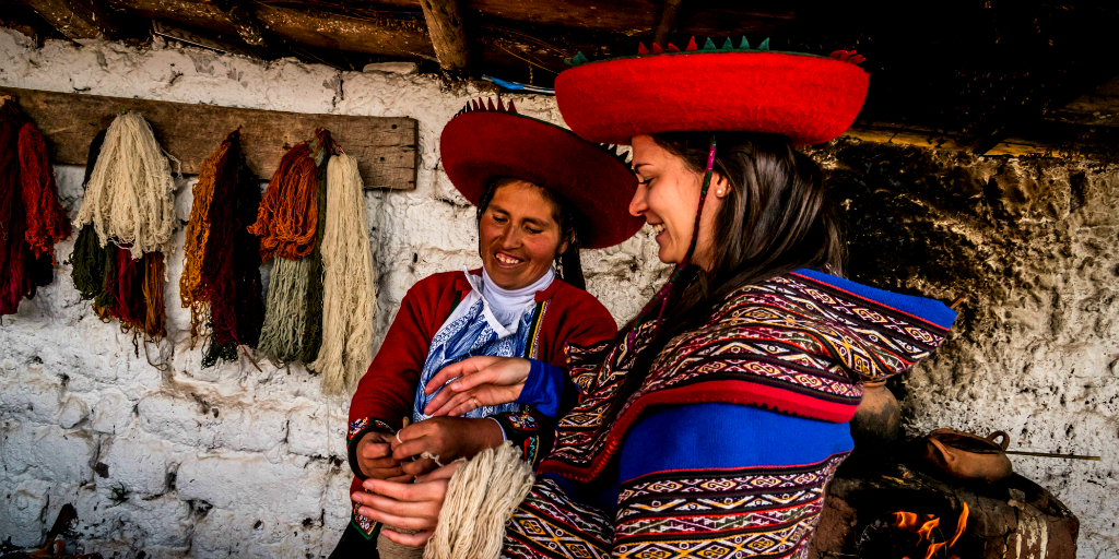 Textile weaving is an important practice that was adopted by the Incan heritage