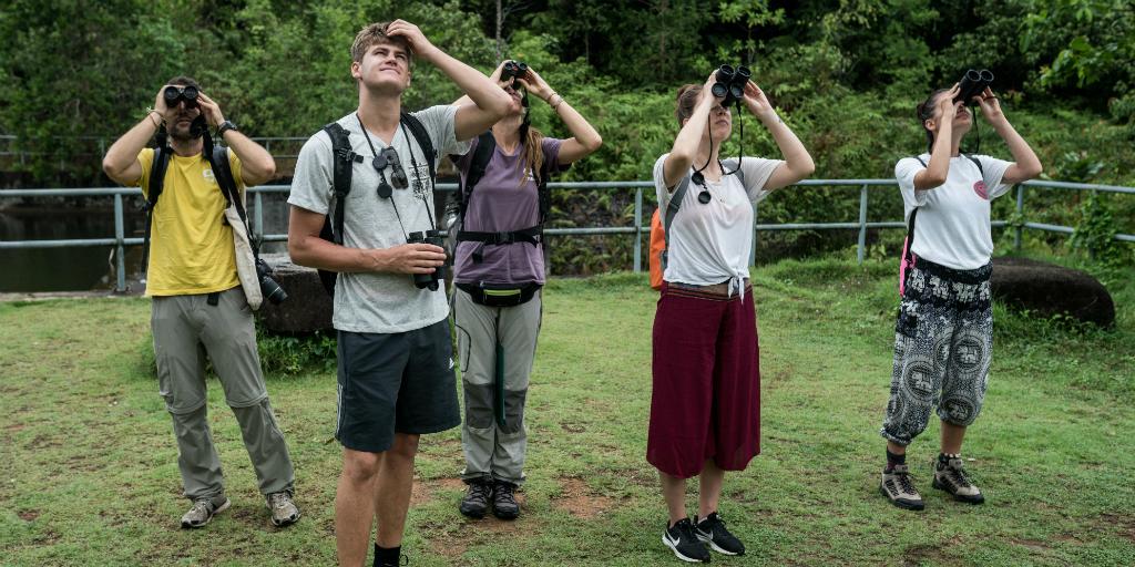 Volunteers working on a wildlife conservation program in Thailand