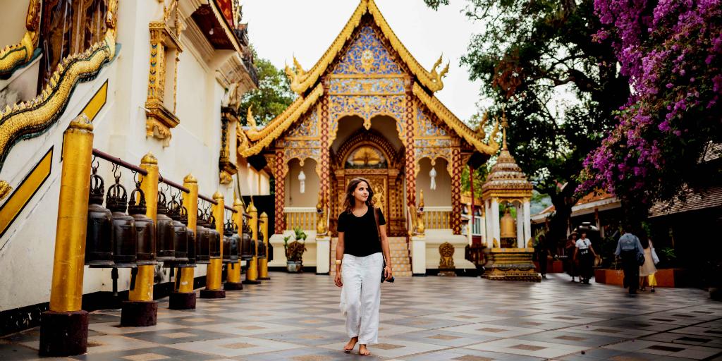 Visitez un temple à Chiang Mai lorsque vous faites du bénévolat en Thaïlande.