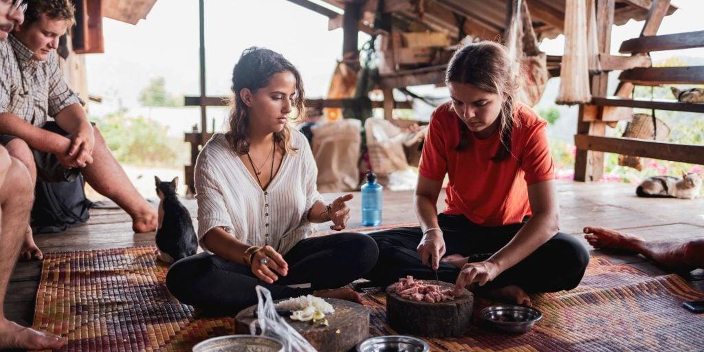 Rejoignez un cours de cuisine lorsque vous faites du bénévolat à Chiang Mai en Thaïlande