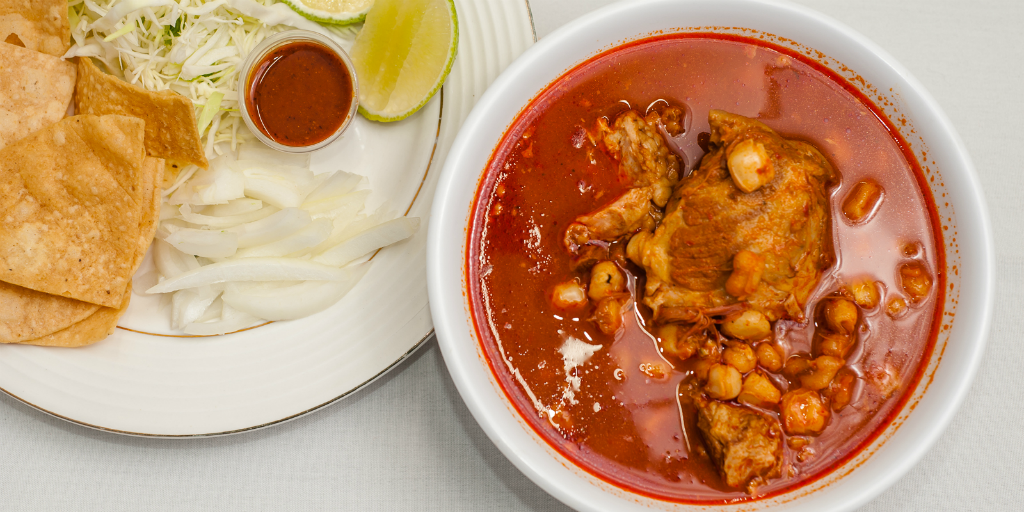 Enjoy a warm bowl of pozole on a cold day volunteering in Mexico