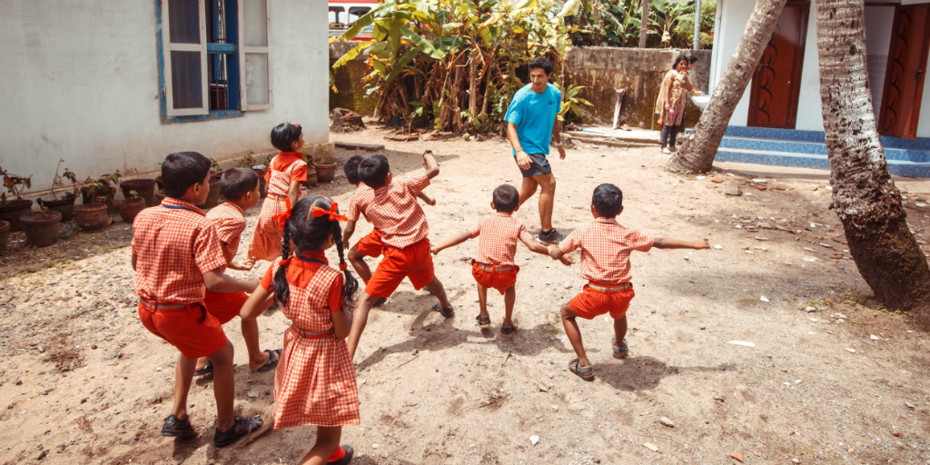 volunteer in india and get involved in teaching sports