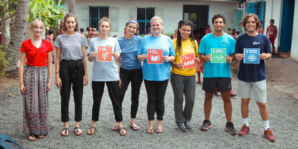 volunteer in india to contribute towards UN SDGs