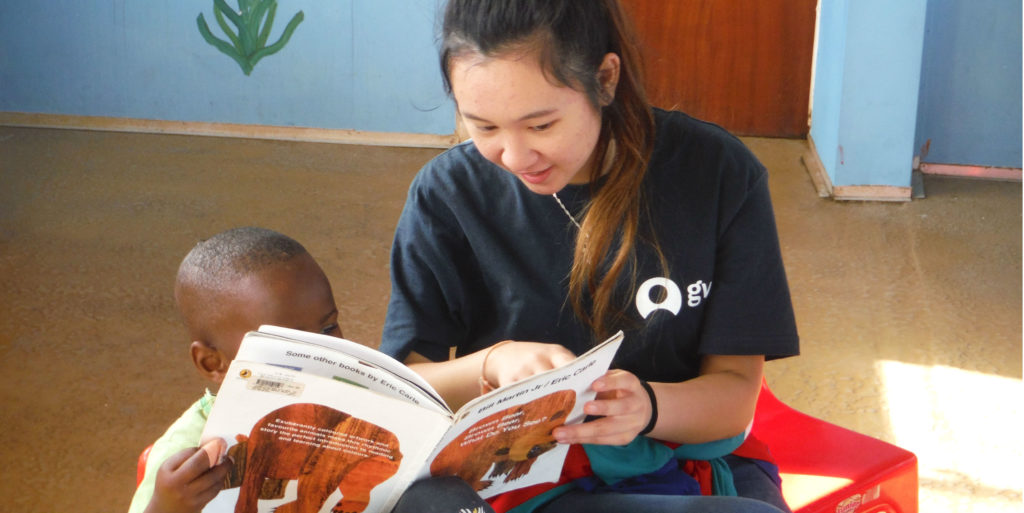 You can be an early childhood development volunteer in Cape Town, South Africa during your gap year