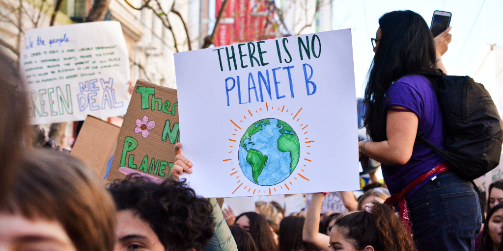The first Earth Day started after a massive protest in the USA