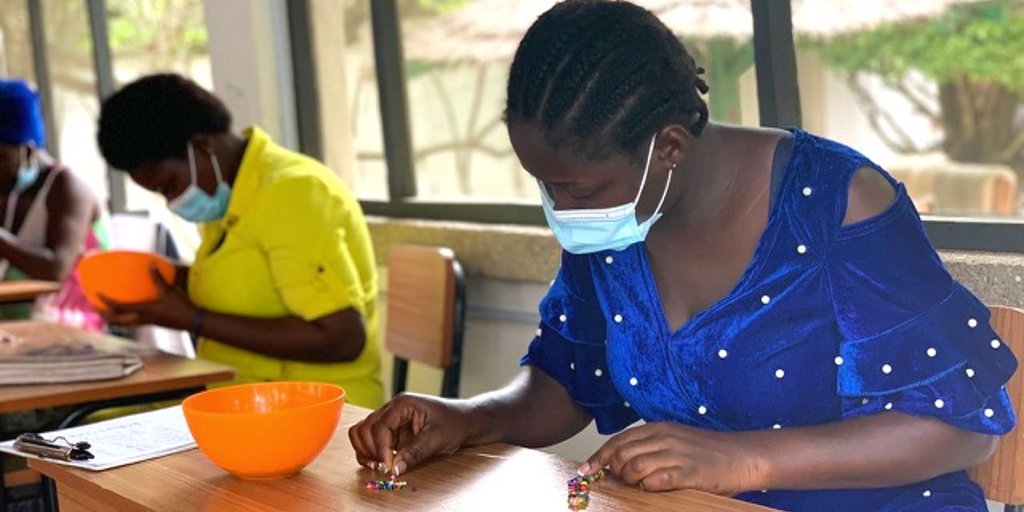 Women in Ghana upskill themselves as participants of a women's empowerment program facilitated by GVI.